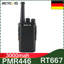 PMR446 Retevis 0.5W Funkgerät 3000mAh radio Portabel 16CH CTCSS/DCS TOT VOX Scan