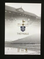 TOTTENHAM HOTSPUR V MANCHESTER UNITED LAST GAME PROGRAMME AT WHITE HART LANE