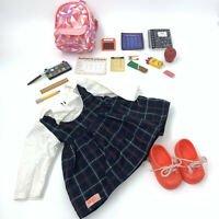 "Our Generation Deluxe School Uniform Off to School Set Bag 18"" Doll Backpack"