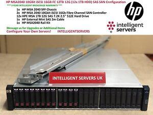 HP MSA2040 10GBit iSCSI 16GB FC 12TB (12x 1TB HDD) Custom Listing