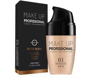 Face Foundation Cream Waterproof Long-lasting Concealer Liquid Professional Make