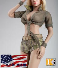 "1/6 Tactical Military Summer Outfits Set 12"" For Phicen Hot Toys Female Figure"