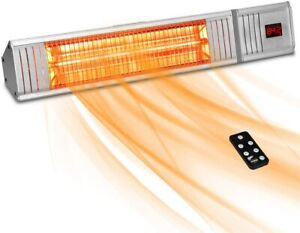 1500W Electric Infrared Patio Space Heater Wall Remote Control Indoor/Outdoor