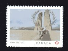 2017 Canada SC# Battle of Vimy Ridge 100 Anniversary from booklet M-NH