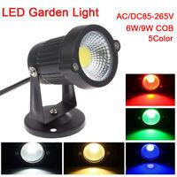 6W 9W COB LED Landscape Garden Yard Path Flood Spot Light Outdoor Lighting HRM