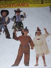 McCALL'S #8868 - BOYS & GIRLS COWBOY-COWGIRL-INDIAN BRAVE & SQUAW PATTERN 3-4 FF
