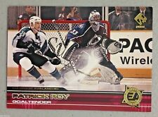 PATRICK ROY 2000-01 PACIFIC PRIVATE STOCK EXTREME ACTION INSERT HOCKEY CARD # 4
