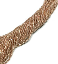 15/0 Charlotte Cut 12 Strands Preciosa Czech Met Copper Glass Seed Beads #2521