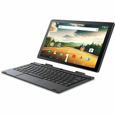 "2 In 1 Tablet Laptop 10"" Touch Screen Android OS Intel Atom Quad Core 32GB WiFi"