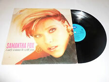 """SAM FOX - I Only Wanna Be With You - 1988 4-track 12"""" vinyl single"""