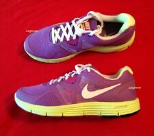 Nike Lunarglide 3 Running Shoe Purple Yellow Sneaker Womens 8.5 Youth Boy Girl 7
