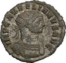 Aurelian 274AD Authentic Ancient Roman Coin Sol Sun God Cult Whip  i39258