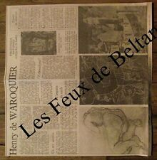 Article Expo Henry de Waroquier,BN , photos 1955