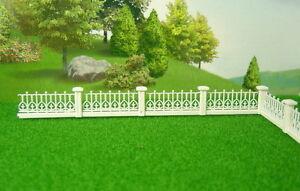 1 Meter Model Railway 1:200 N Z Scale Building Fence Wall White LG20009