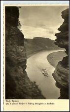 AK ~ 1930/45 Sassonia Rathen Elba fortezza Nave Foto-AK