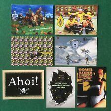 7 Cartoline pubblicitarie PLAYSTATION card GIOCHI PS2 TOMB RIDER MOTO GP2