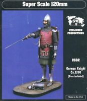 Verlinden 120mm 1:16 German Knight Ca.1350 Base Included Resin Figure Kit #1532