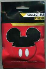 Disney Parks Mickey Mouse Head Icon Mystery Collection Pins Set Pin Bag
