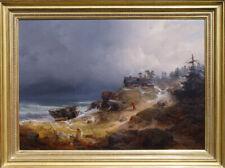 Carl Hilgers Norway Sweden Coast Sea Storm Surf Caspar David Friedrich