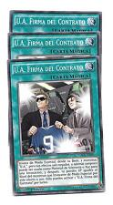 Yugioh 3 U.A. FIRMA DEL CONTRATO CROS-SP088 x3 NM carta magica Español