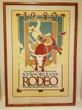 1980 New Orleans Rodeo Poster Print by Kathleen Joffrion Perry