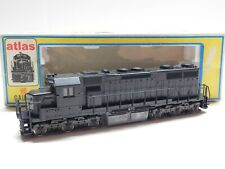 HO Scale - Atlas - Undecorated Powered Diesel Locomotive Train