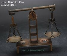 Ancient Chinese weighing scales folk collection brass China ancient balance d01
