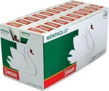 Swan Menthol Smoking Cigarette Filter Tips Full Box Of 20 Packs