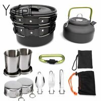 Camping Cookware Picnic Cooking Set Outdoor Pots Pans Non-stick Tableware Cup