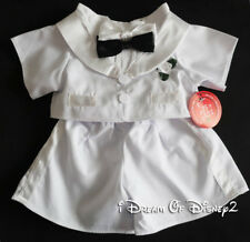 EARLY Build-A-Bear WHITE 2-TIE TUXEDO Teddy Clothes WEDDING GROOM Outfit NEW