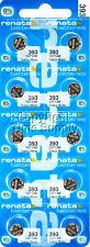 10 pc Renata 393 Watch Batteries Swiss SR754W 0% MERCURY