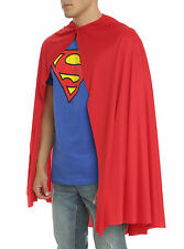 """ADULT LONG 36"""" RED CAPE Superman Super Hero for Halloween Costume Cosplay NEW"""