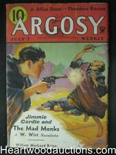 """""""Argosy"""" July 7 1934 Classic Jimmie Cordie Cover Nice Shape"""