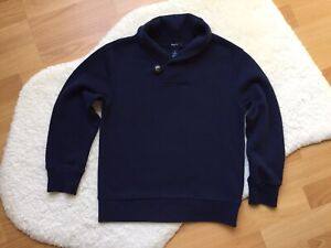 Gap Kids Boys Navy Blue Cable Knit Sweater Size S Small UK 6-7 Years
