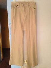 Junior's Bongo Beige Ribbed Boot Cut Jeans in Size 9