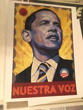 President Obama 2008 Nuestra Voz Print - Not Trump!