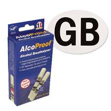 Alcohol AlcoProof Breathalyser con paquete de pegatinas en coche GB