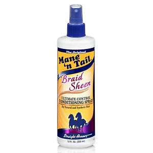 Mane n' Tail Braid Sheen Spray Moisturizer Natural and Synthetic Hair Control