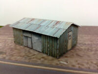 N Scale Building - Weathered Shed  Cardstock kit set WS2