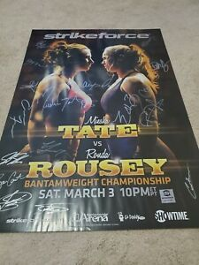 Strikeforce TATE VS ROUSEY SBC RARE VHTF autograph UFC SBC POSTER