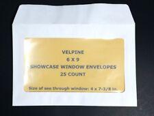 NEW Envelopes 25 Full Face Window Envelope 6 x 9