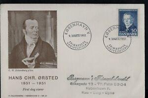 1946 Denmark Anni Death of Hans Christian Ørsted FDC First Day Cover København