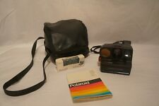 Vintage Polariod SX-70 Sonar One Step Camera, Untested, Includes Bag & Manual