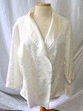 Oscar De La Renta Pink Label Sateen Kimono Robe Oyster Color Brocade Size M 578b52f40