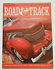 Road & Track Mag. Feb 1965 BMW 1800 TI Austin-Healey 3000 MKIII, Austin-Cooper S
