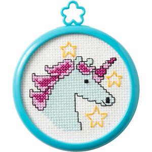 Counted Cross Stitch Kit ~ My 1st Stitch Mystical Unicorn w/Frame #47816