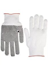Anti Static Nylon/ESD Carbon Featherweight Glove PVC Dotted Large, Gray 12 Pair