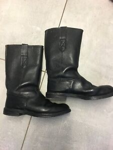 Vintage Handmade Leather Motorcycle/Fireman Boots