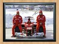 Felipe Massa Fernando Alonso Ferrari Signed Autographed A4 Photo Poster Print F1