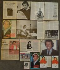Very Nice JULIO IGLESIAS Clippings Collection